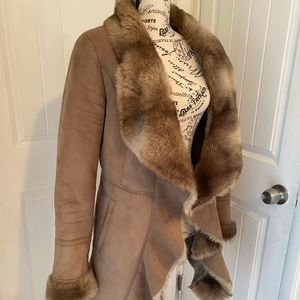 Johnston and Murphy Suede & Faux Fur Coat